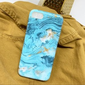 Accessories - Blue iPhone Marble Case